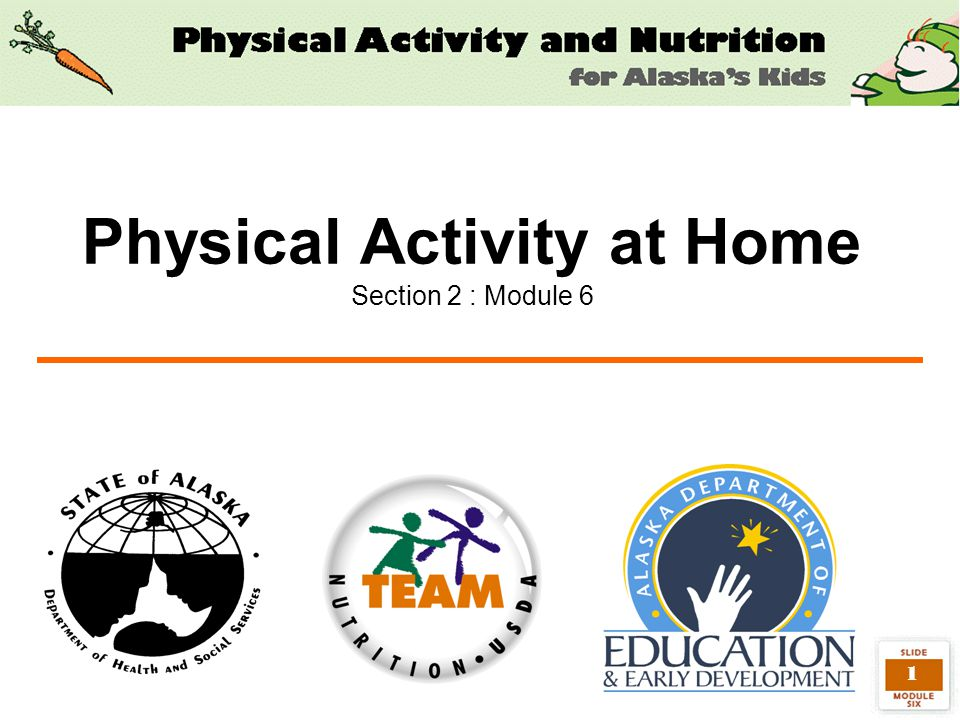 1 Physical Activity at Home Section 2 : Module 6