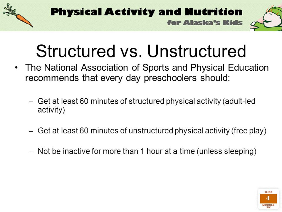 15 Decrease Inactivity Children should not be inactive for more than an hour at a time Limit inactivity by: –Limit T.V.