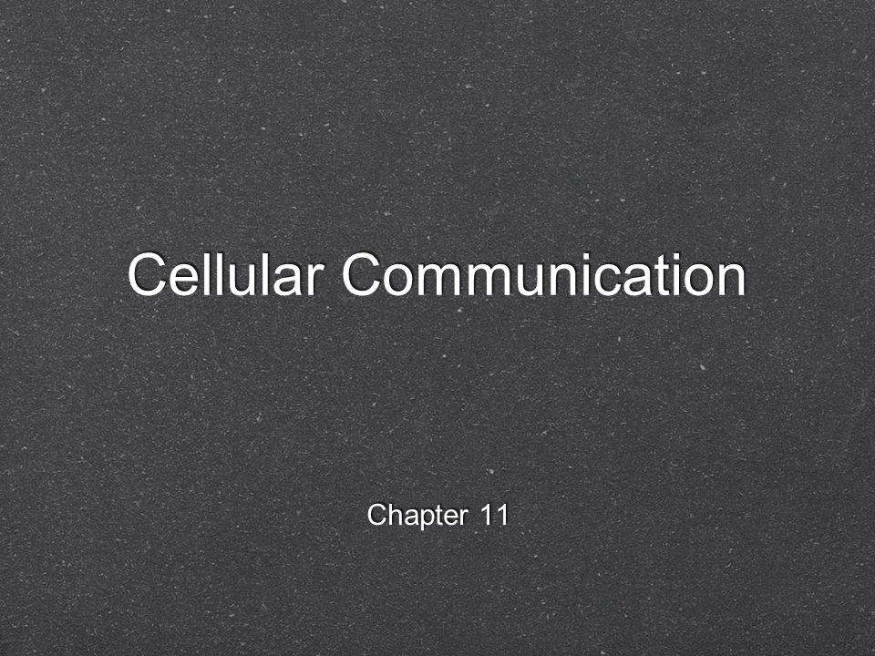 Cellular Communication Chapter 11