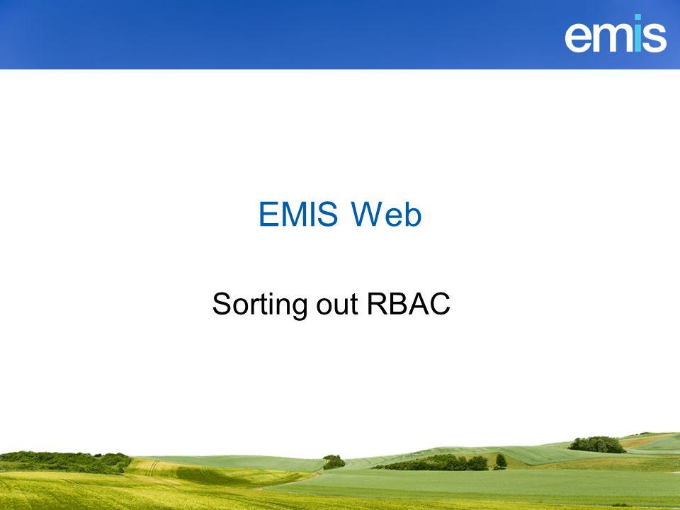 What is EMIS Web RBAC.