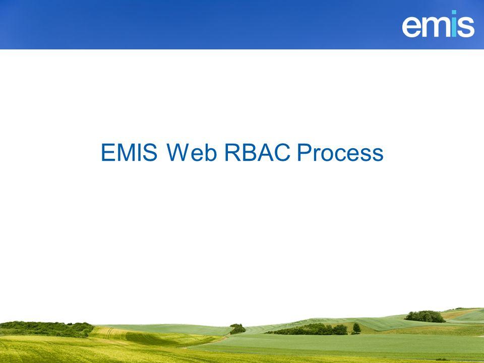 EMIS Web RBAC Process