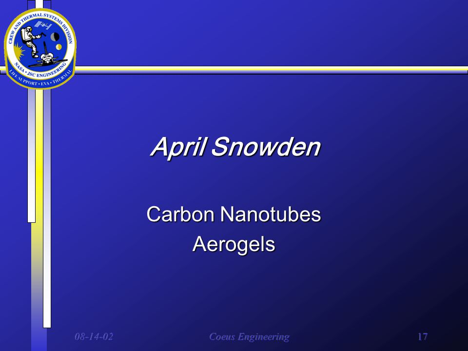 08-14-02Coeus Engineering17 April Snowden Carbon Nanotubes Aerogels