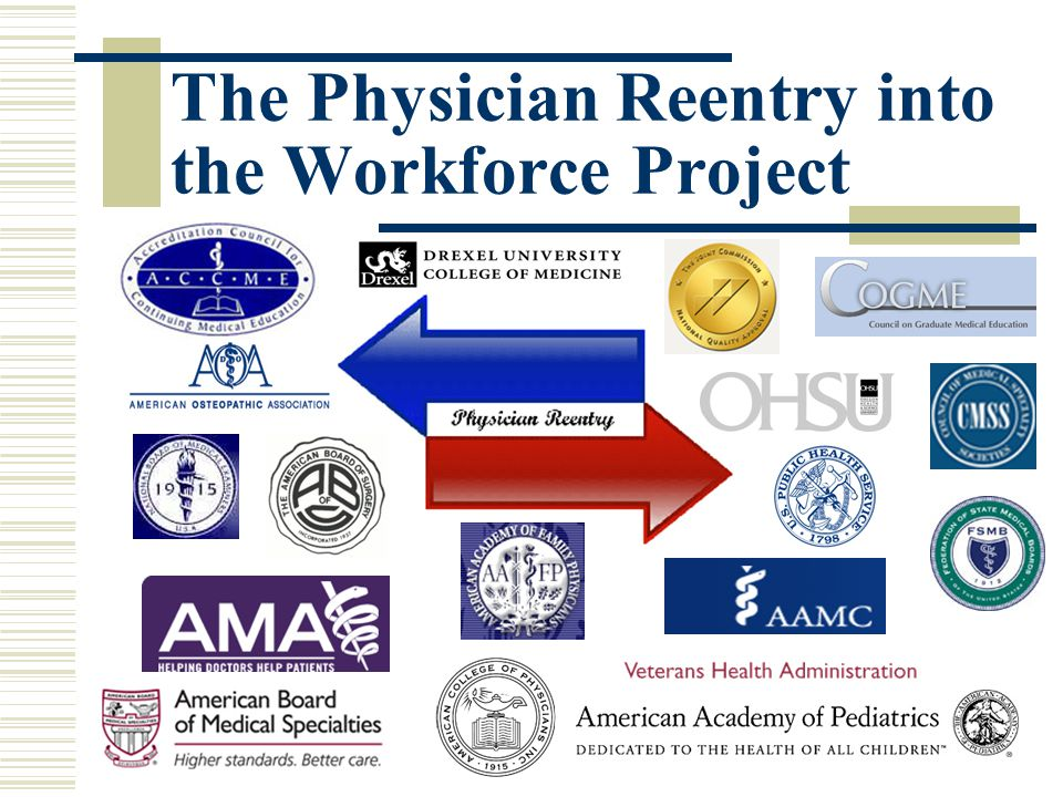 The Physician Reentry into the Workforce Project