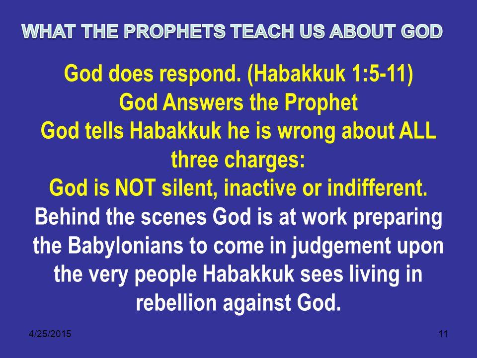 4/25/201511 God does respond.
