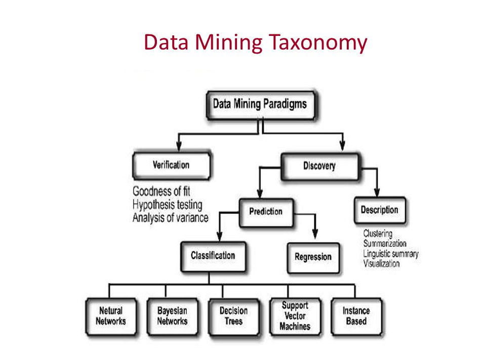 Data Mining Taxonomy