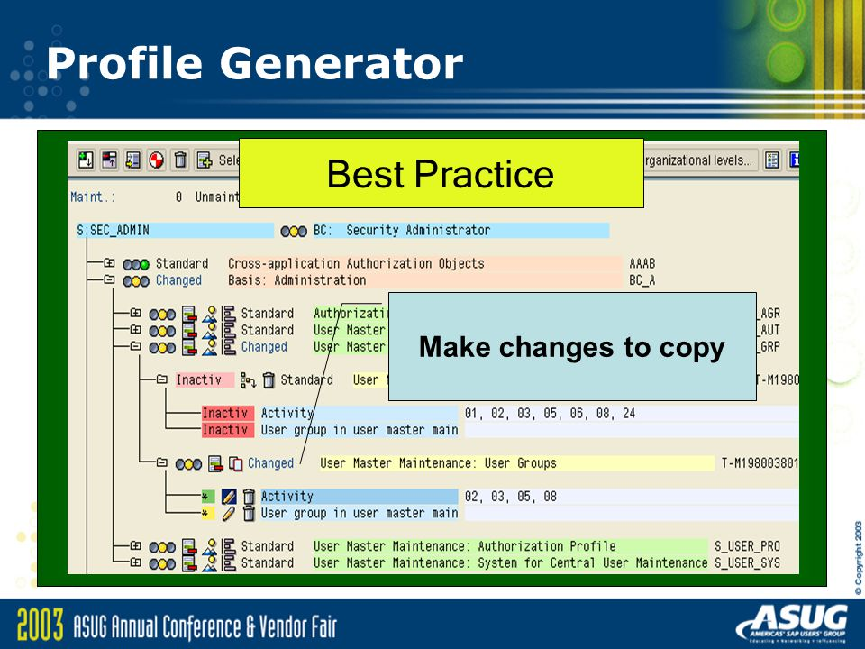 Profile Generator Make changes to copy Best Practice