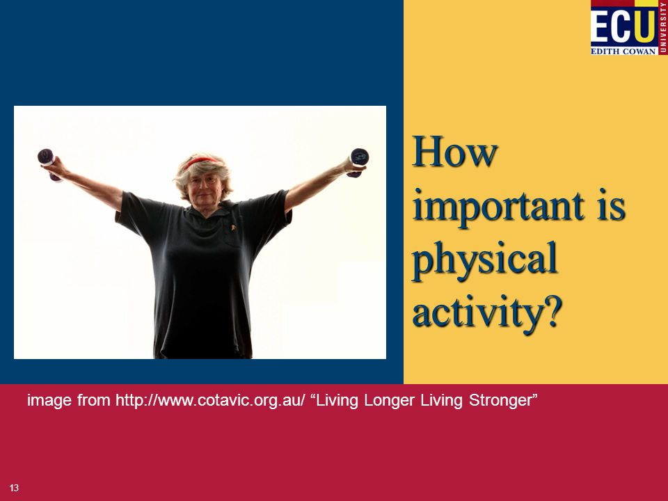 How important is physical activity.
