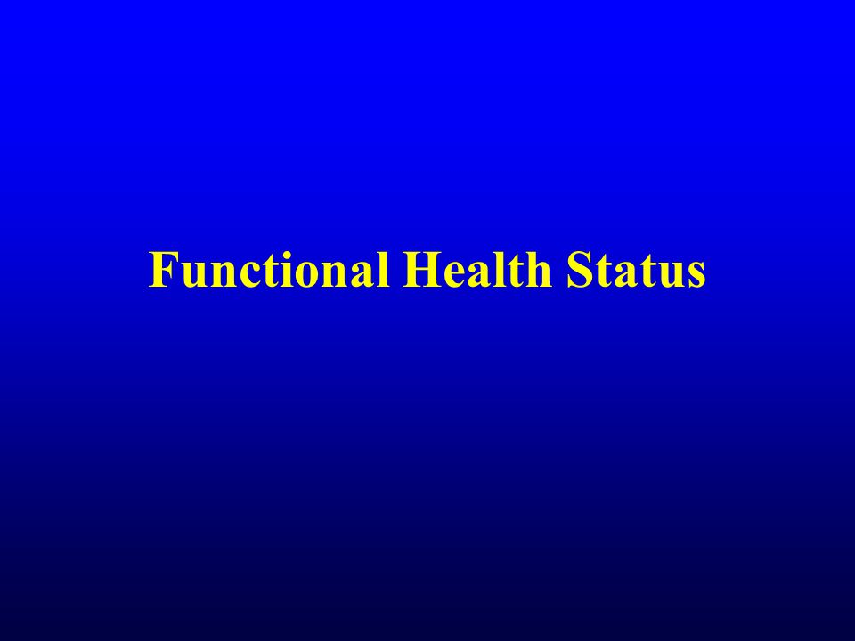 Fitness and Functional Limitations Prospective study of 1,175 women and 3,495 men age 40 years and older Medical exam during 1980-88 Average follow-up of 5.5 years Self-report of functional limitations in 1990 by mail-back survey –Are you physically able to do.