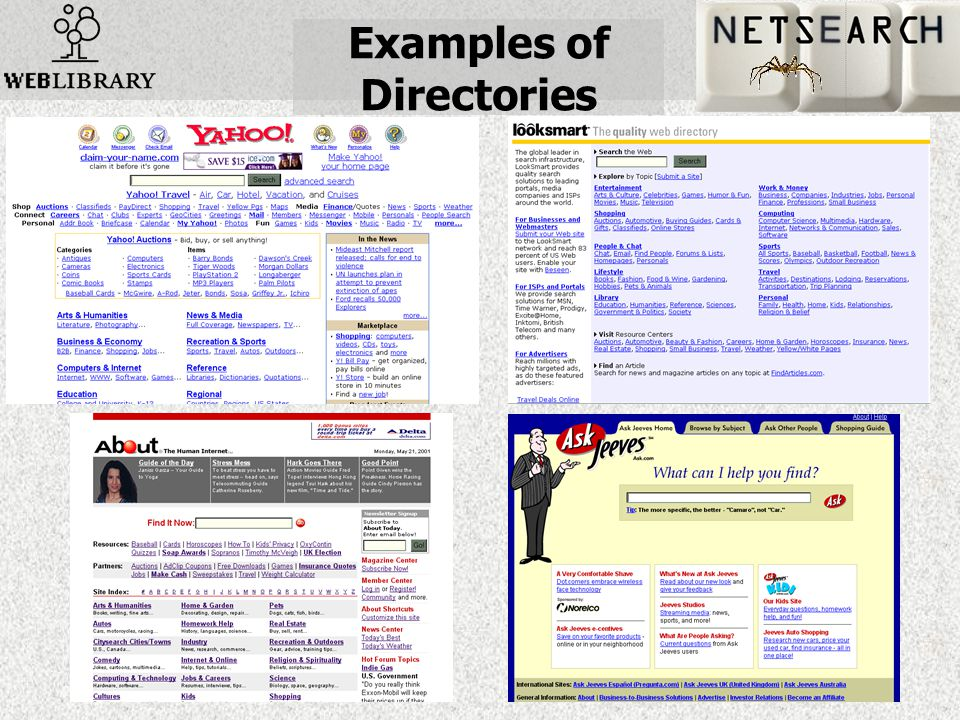 Examples of Directories