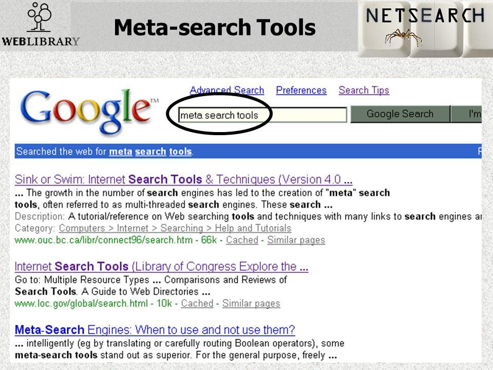 Meta-search Tools