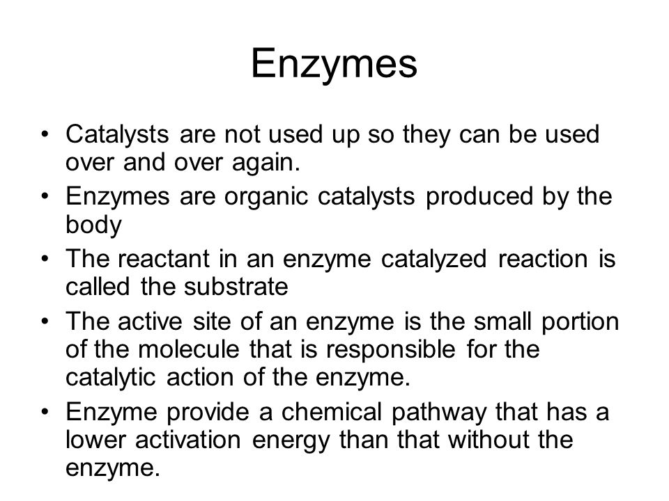 Enzymes.Enzymes are highly specific with varying degrees of specificity.