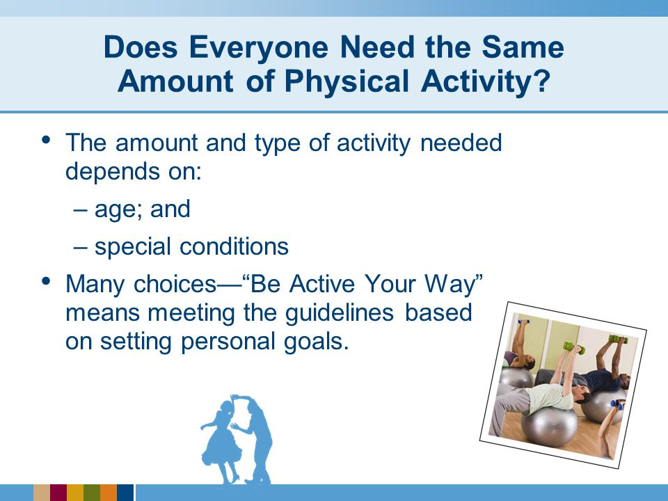 Does Everyone Need the Same Amount of Physical Activity.