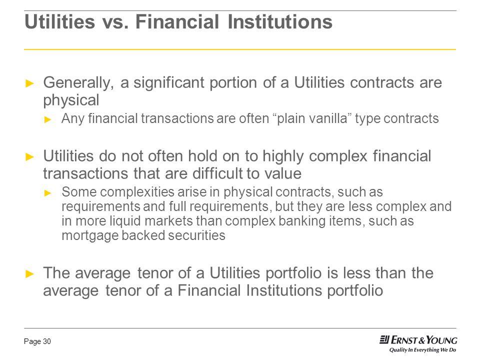 Page 30 Utilities vs.