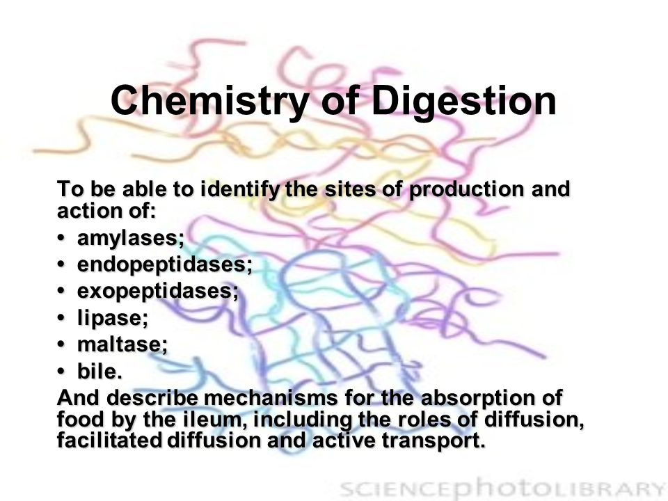 Pepsin (in gastric juice) This digests proteins to peptides, 6-12 amino acids long.This digests proteins to peptides, 6-12 amino acids long.
