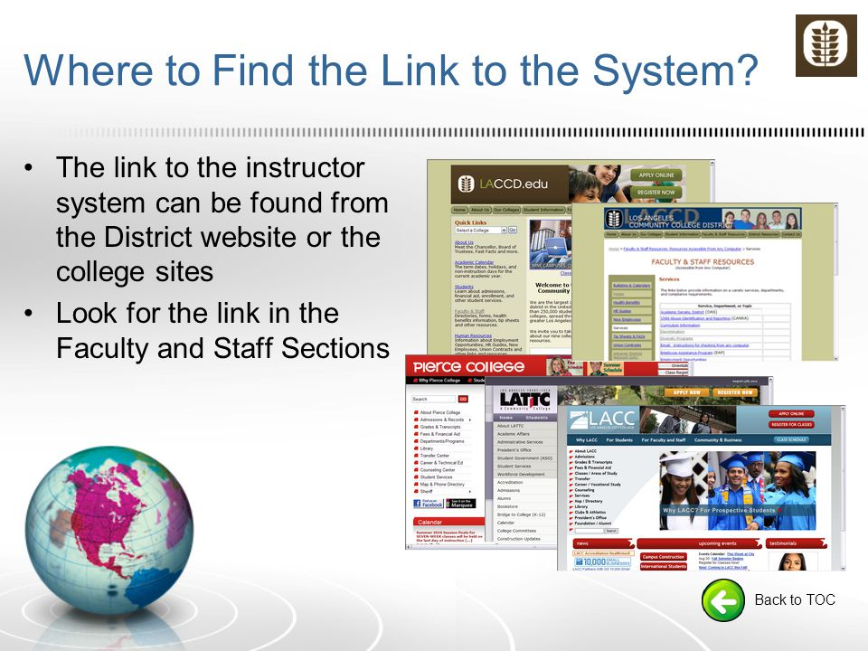 Where to Find the Link to the System.