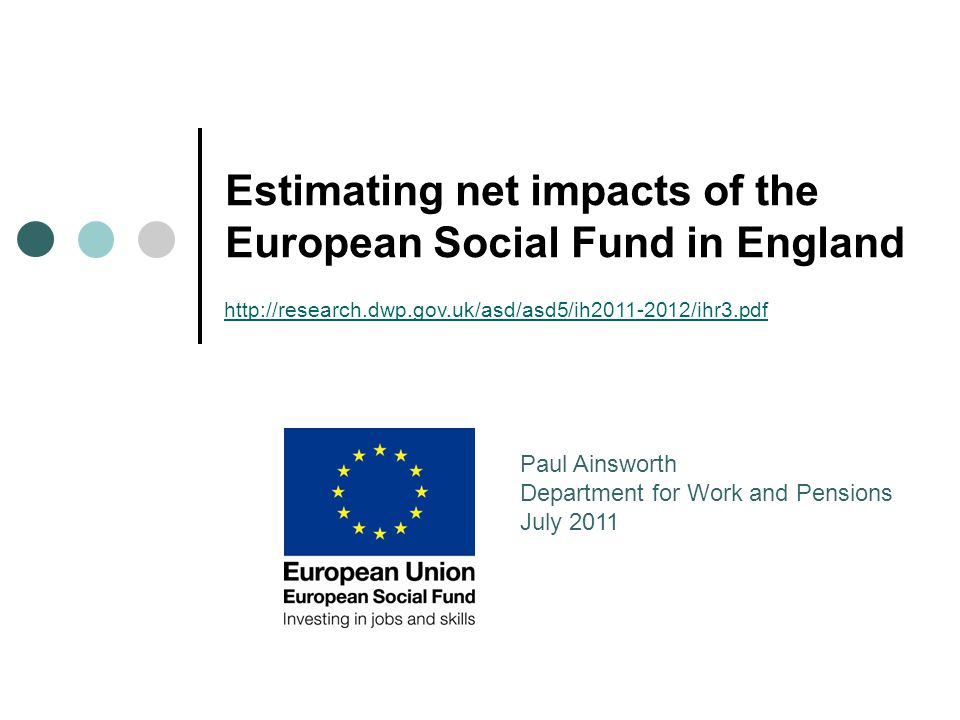 2 Overview ESF priorities in England; Indicators and Impacts; Methodology and Challenges; Results; Evidence-based policy; Conclusions.
