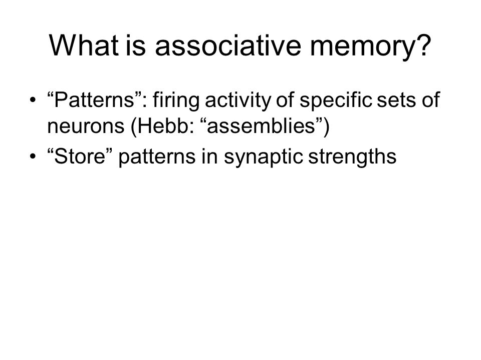 What is associative memory.