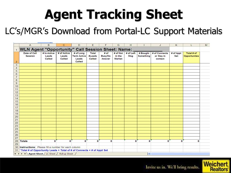 LC's/Managers Portal Tip of the Month Export Leads to Excel –Use this tool to create calling and mailing lists.
