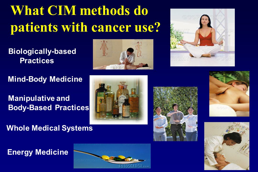 What CIM methods do patients with cancer use.