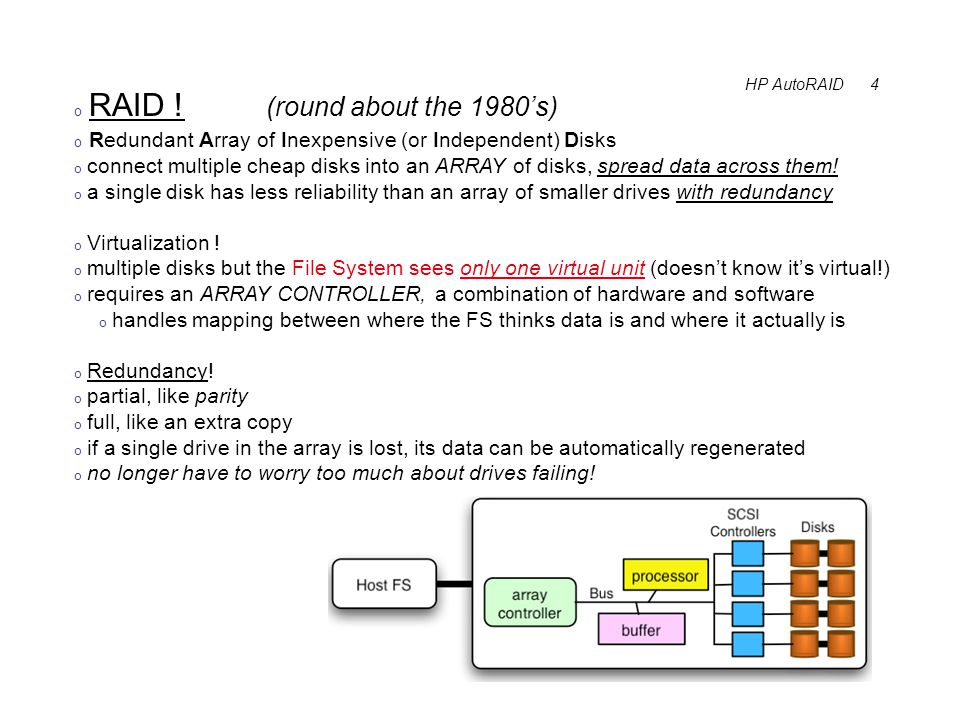 HP AutoRAID 4 o RAID .