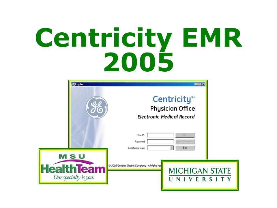 Centricity EMR 2005