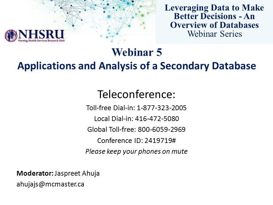 Leveraging Data to Make Better Decisions - An Overview of Databases Webinar Series Methodology: defining work status