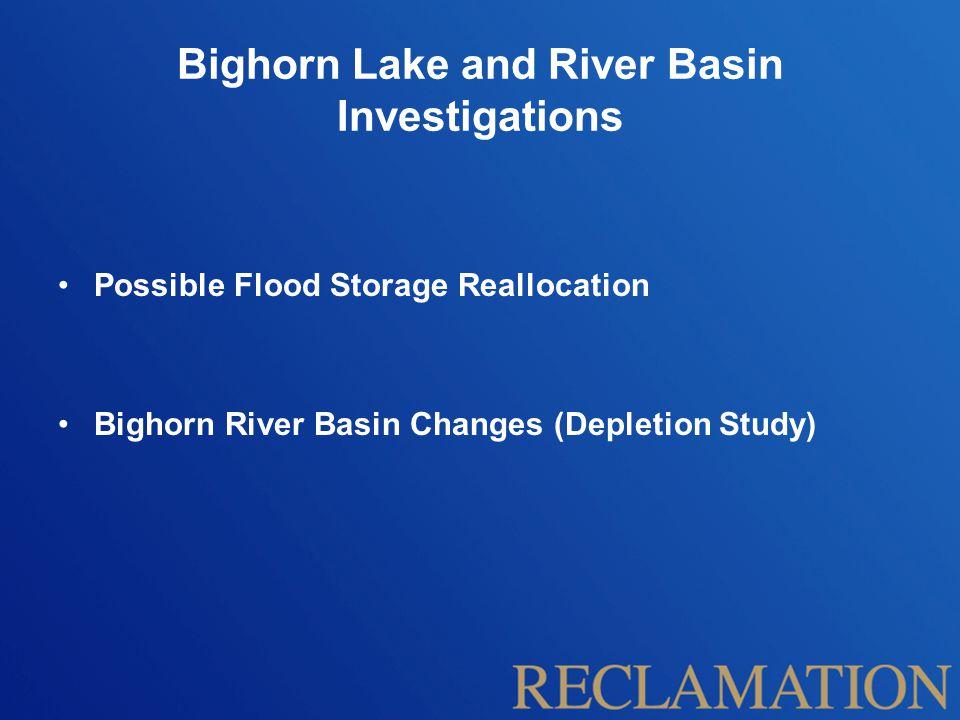 Flood Control Storage Reallocation