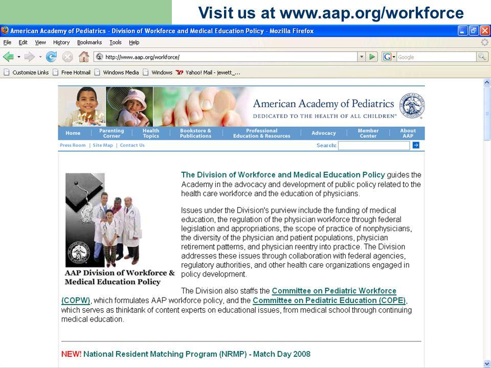 Visit us at www.aap.org/workforce