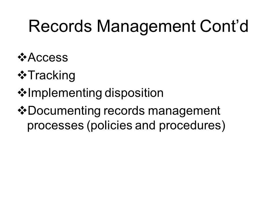 Records Classification Records status changes as the frequency of use decreases.