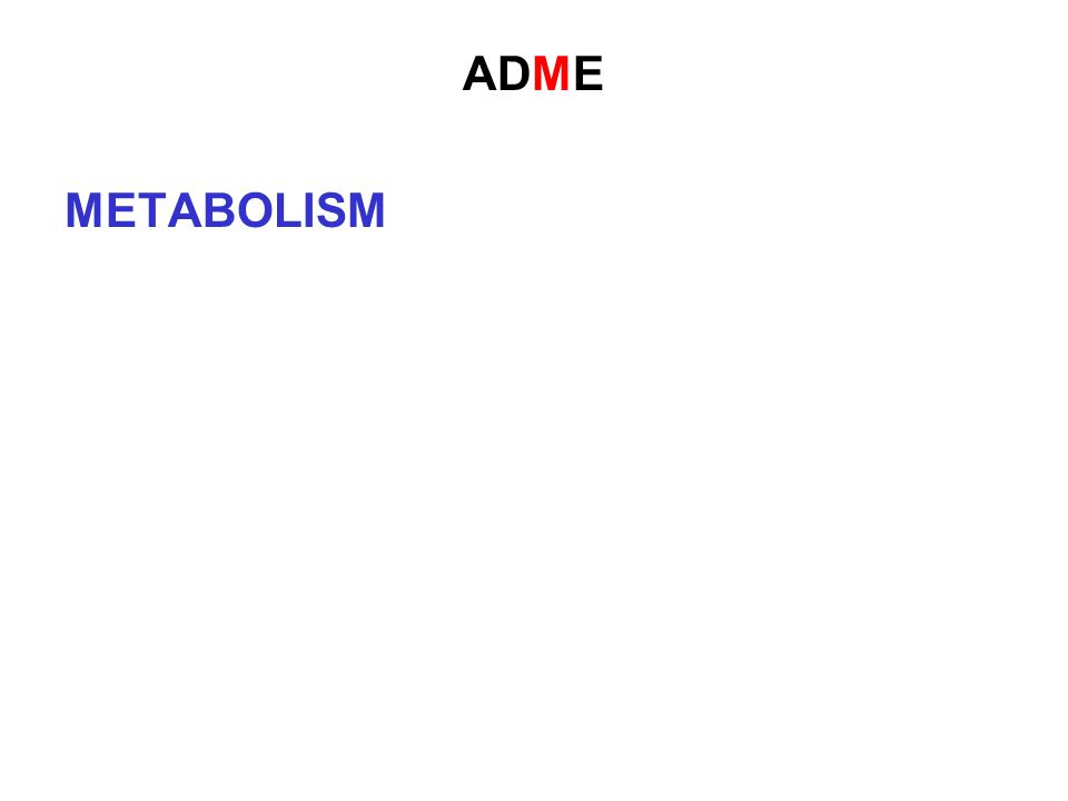 ADME METABOLISM