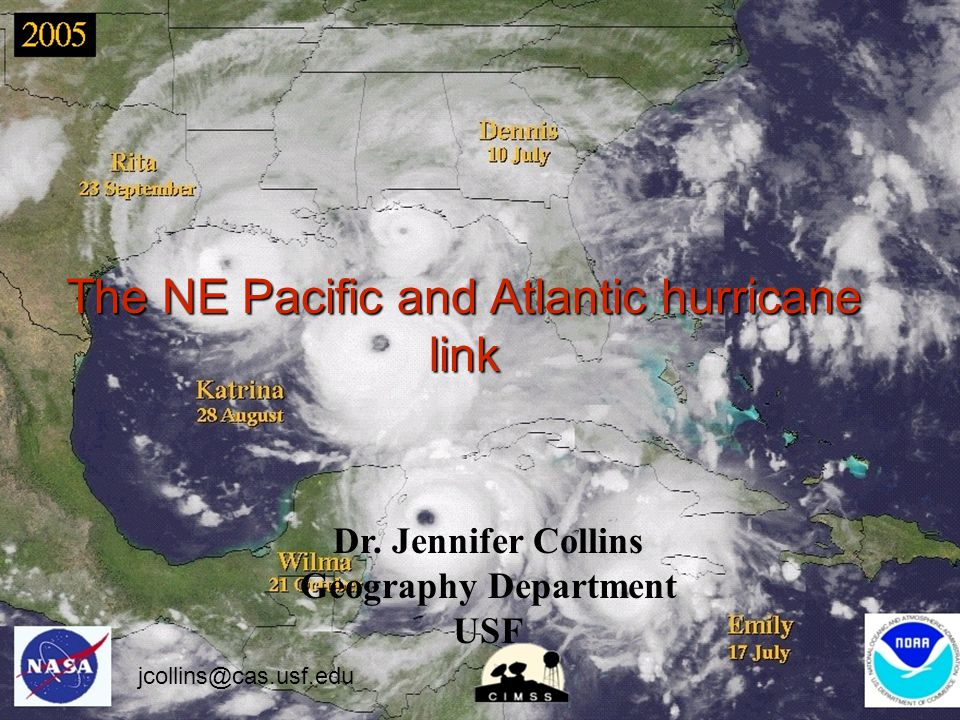 The NE Pacific and Atlantic hurricane link Dr.