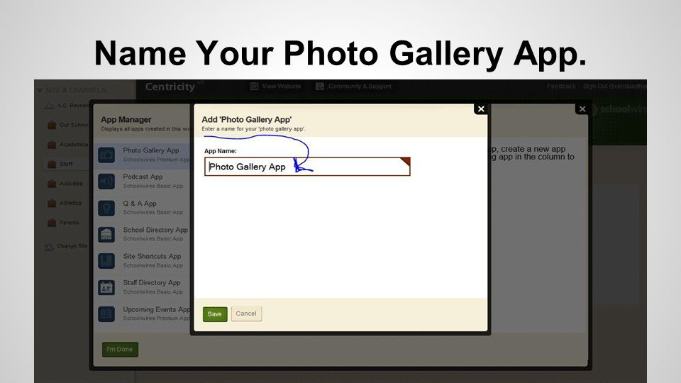 Name Your Photo Gallery App.
