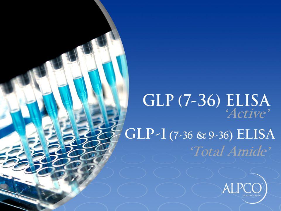 GLP-1 (7-36 & 9-36) ELISA 'Total Amide' 'Active'