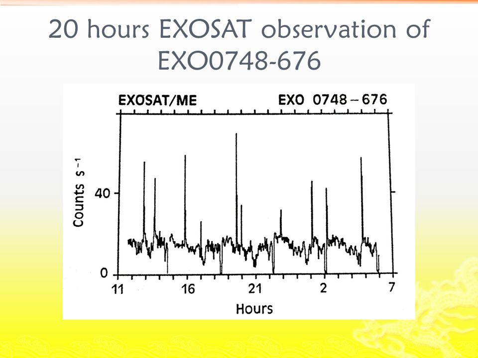 20 hours EXOSAT observation of EXO0748-676