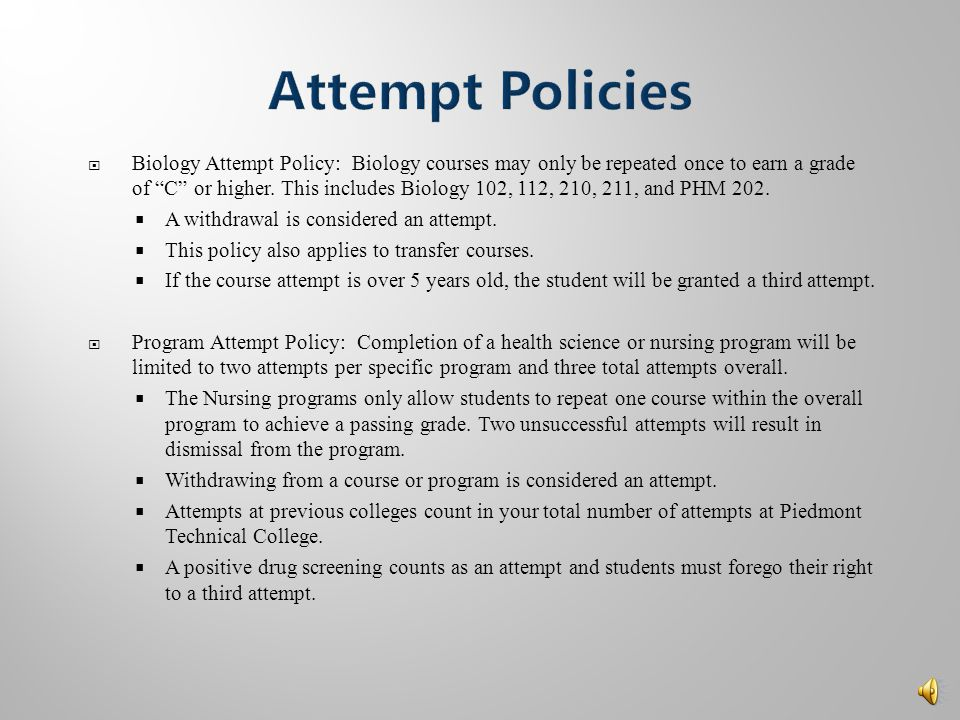  Transfer Students:  Biology and Computer coursework over 5 years old will not transfer to PTC.  Additional general education coursework over 10 ye
