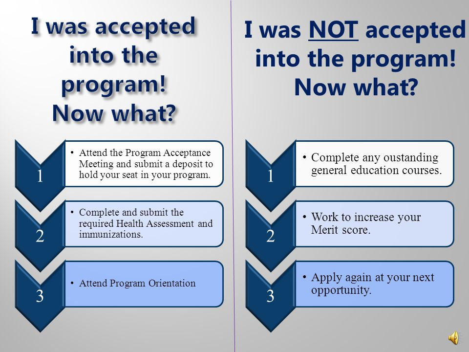 """Prioritized by the student's """"priority date"""" Program- Ready Application Prioritized by the total number of verified merit points Merit Application App"""