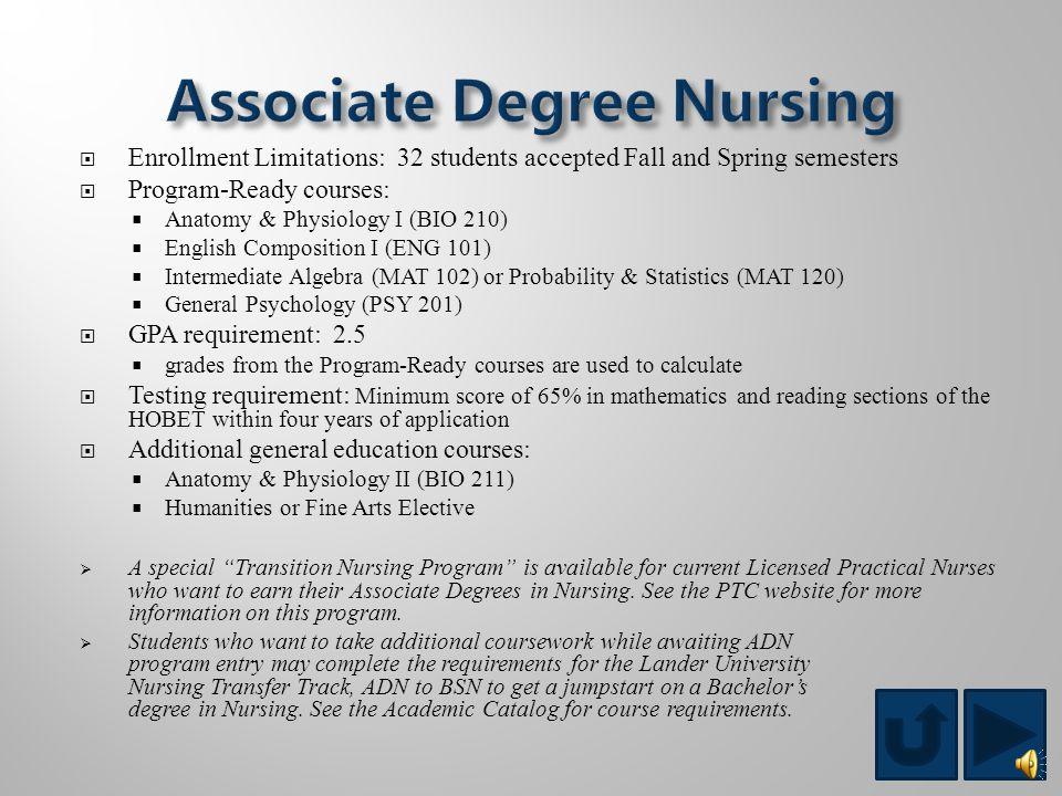 Associate Degree Programs Associate Degree in Nursing (RN) Cardiovascular Technology Certificate Programs Patient Care Technician Massage Therapy Dipl