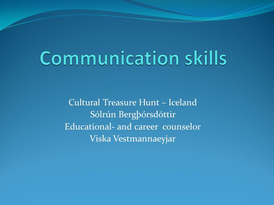 Cultural Treasure Hunt – Iceland Sólrún Bergþórsdóttir Educational- and career counselor Viska Vestmannaeyjar