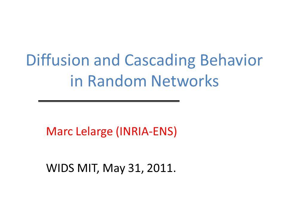 (1) Diffusion Model (2) Results q = relative threshold λ = average degree