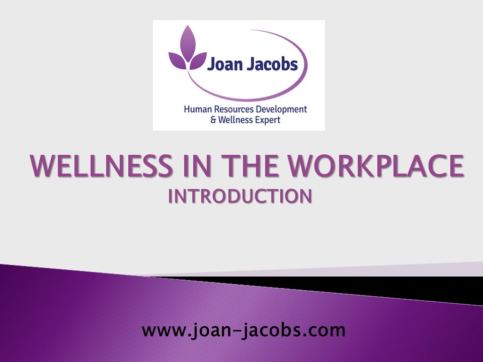  Human Resources and Wellness in The Workplace Expert.