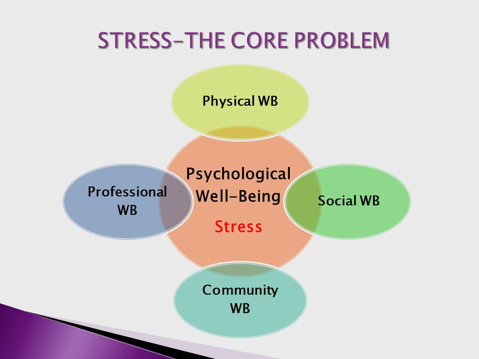 Psychological Well-Being Stress Physical WBSocial WB Community WB Professional WB