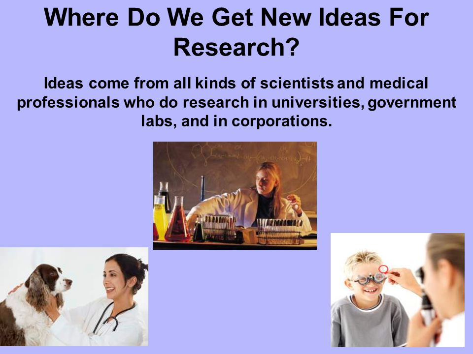 Where Do We Get New Ideas For Research.