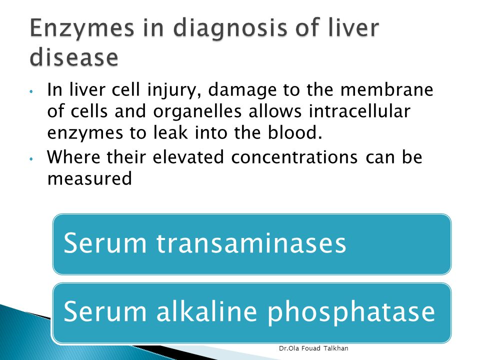 In liver cell injury, damage to the membrane of cells and organelles allows intracellular enzymes to leak into the blood.