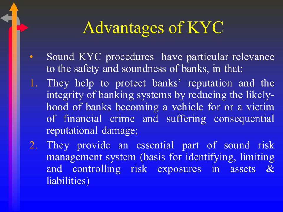 Elements of KYC Customer Acceptance Policy Customer Identification Procedure- Customer Profile Risk classification of accounts- risk based approach Risk Management Ongoing monitoring of account activity Reporting of cash and suspicious transactions
