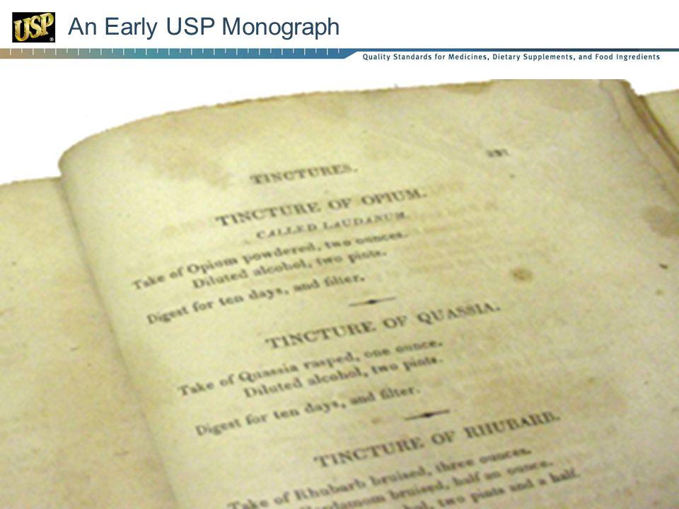 An Early USP Monograph