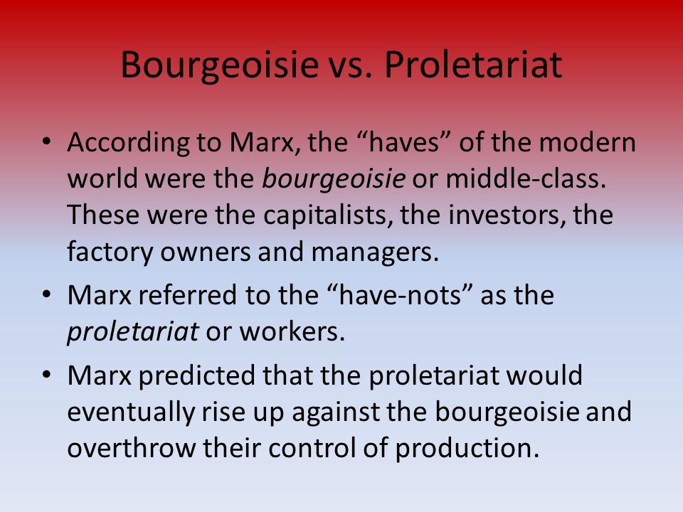 Bourgeoisie vs.