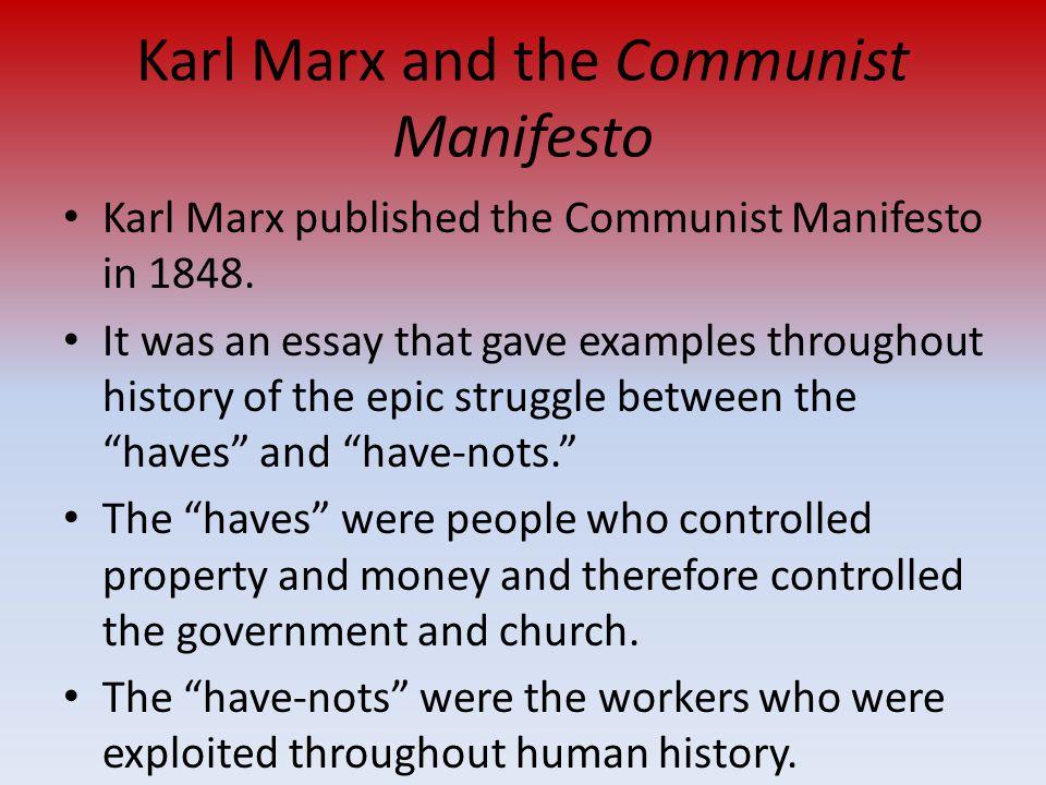 Communist Manifesto Essay