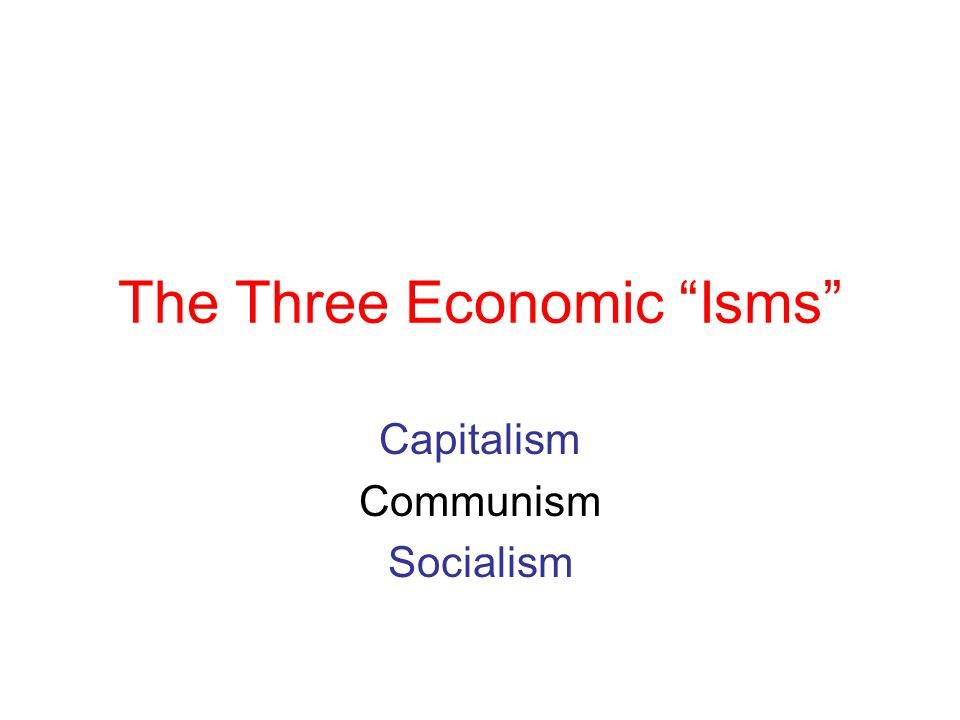 Communism Communism-- ex.N.