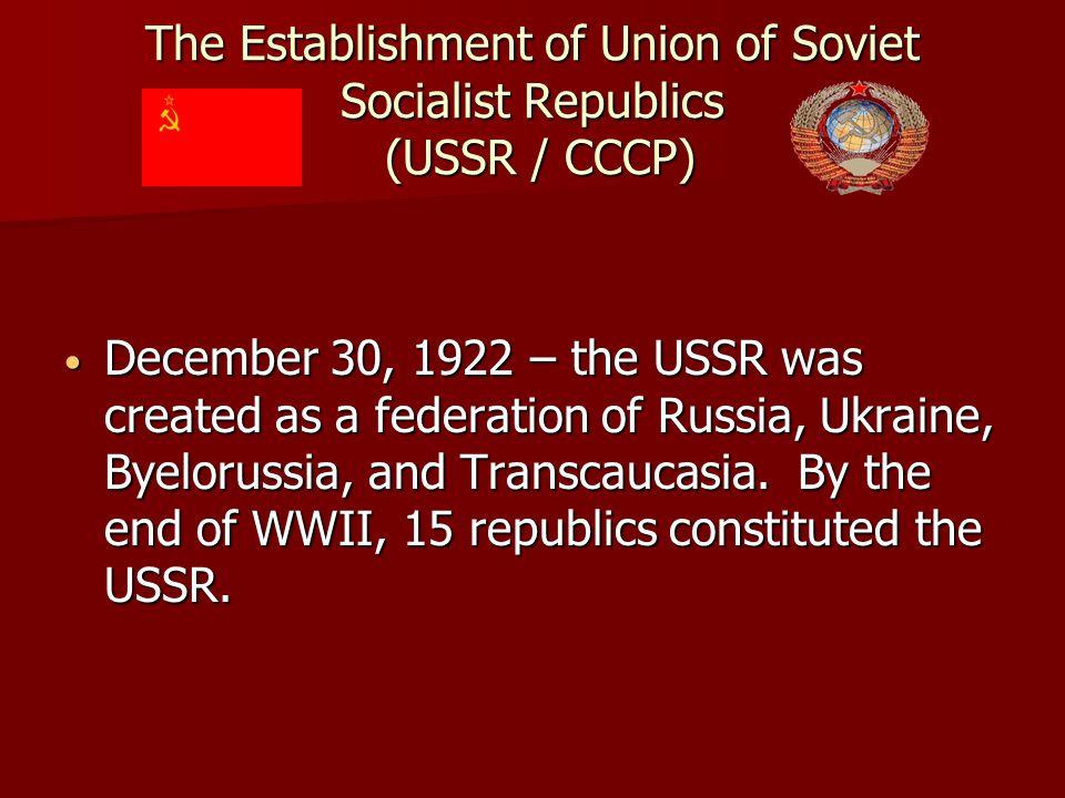 The Soviet Union 1.