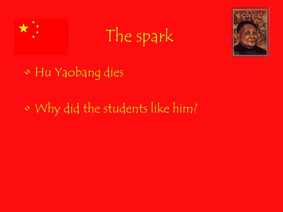 The spark Hu Yaobang dies Why did the students like him